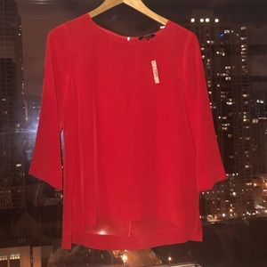 Madewell NWT Red Silk Top xs